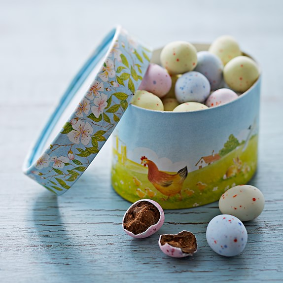 Chocolate Truffle-Filled Eggs in a Box