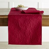 Vine Floral Boutis Table Runner, Chili Pepper