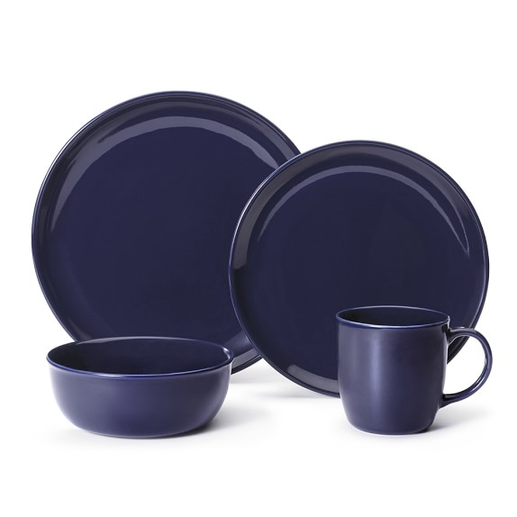 Pacifica 16-Piece Place Setting, Navy