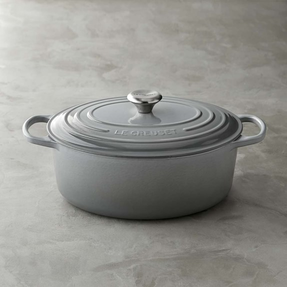 Le Creuset Signature Cast-Iron Oval Dutch Oven, French Grey, 6 3/4-Qt.