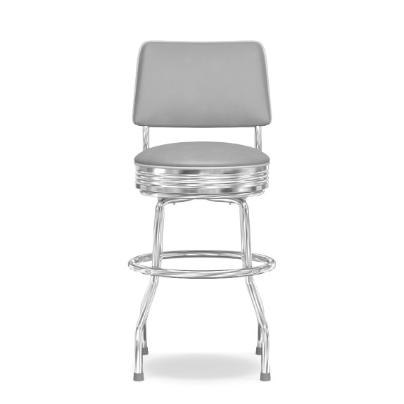 Cushion-Back Diner Stool, 24