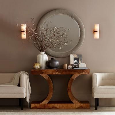 Shagreen Round Wall Mirror Williams Sonoma