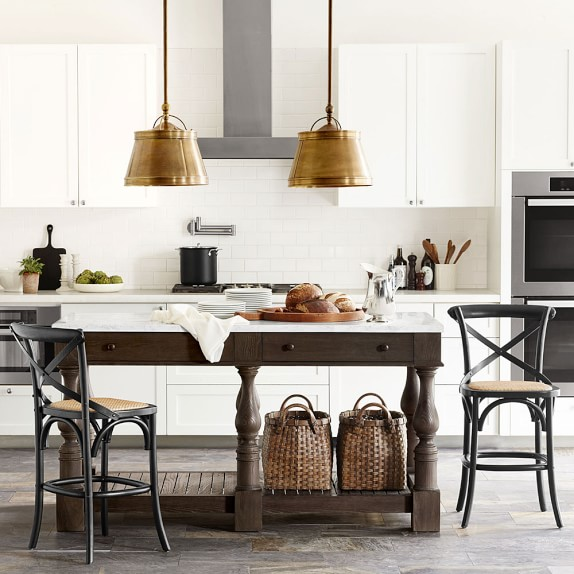 winfield double kitchen island williams sonoma double kitchen island houzz