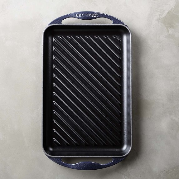 Le Creuset Rectangular Skinny Grill, Midnight Blue