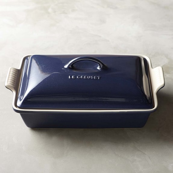 Le Creuset Stoneware Covered Rectangle Casserole, 12 1/2