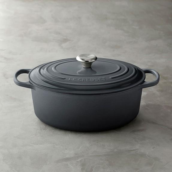 Le Creuset Signature Cast-Iron Oval Dutch Oven, Anchor Grey, 6 3/4-Qt.