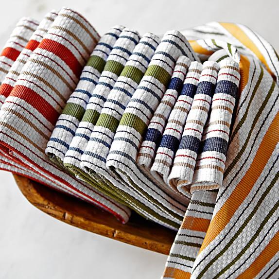 Williams-Sonoma Contrast Stripe Towels, Set Of 4