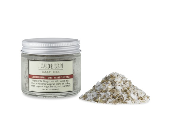 Jacobsen Salt Co. Chuck Williams' Turkey Herbs Flake Salt