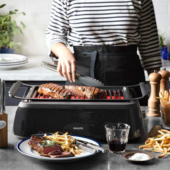 Philips Smoke Less Infrared Grill With Bbq Amp Steel Wire