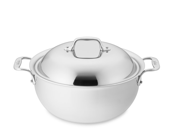 All-Clad Tri-Ply Stainless-Steel Dutch Oven, 5-Qt.