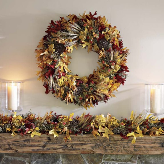 Fall Leaf Garland, 6-Ft.
