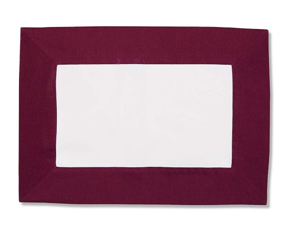 Wide Border Place Mat, Wine