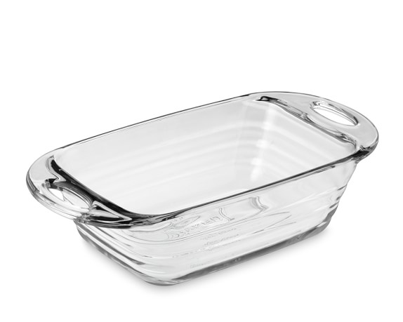Baked Glass Loaf Pan