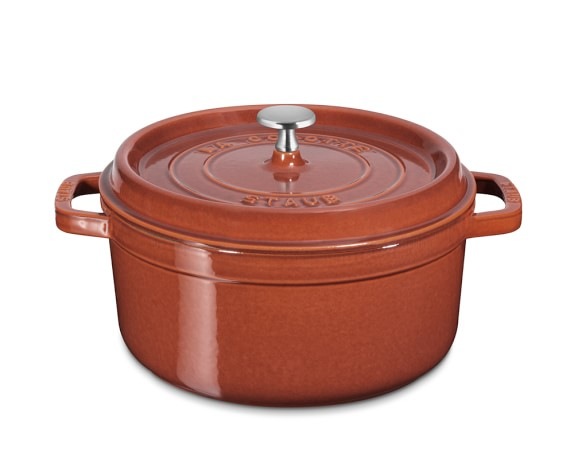 Staub Cast-Iron Round Cocotte, 4-Qt., Red