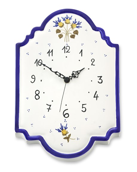 Cornflower Ceramic Clock