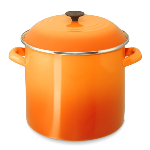 Le Creuset Enameled Steel Stock Pot, 16-Qt., Flame
