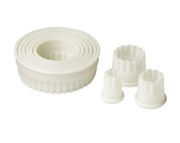 de Buyer Cookie Cutter Set, Round Fluted