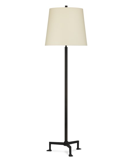 Paxton Floor Lamp, Aged Iron