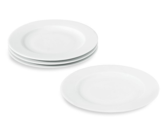 Apilco Tuileries Porcelain Bread & Butter Plates, Set of 4