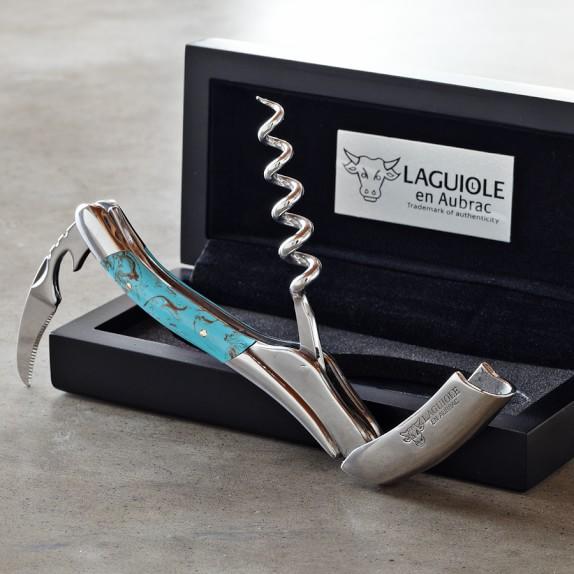 Laguiole En Aubrac Waiters Corkscrew Wine Opener, Turquoise