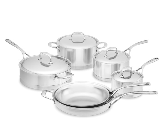 Demeyere Atlantis Stainless-Steel 10-Piece Cookware Set