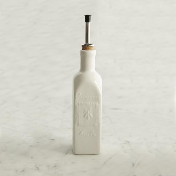 French Porcelain Oil Cruet, 9 oz., White