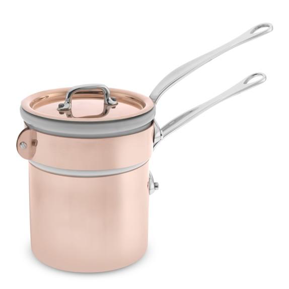 Mauviel M150S Copper Double Boiler, 0.8-Qt.