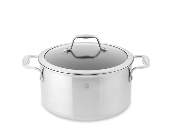 Zwilling Spirit Stainless-Steel Ceramic Nonstick Dutch Oven with Lid, 6-Qt.