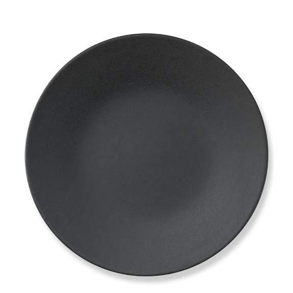 Apilco Reglisse Dinner Plates, Set of 4, Black