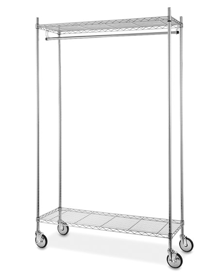 wire shelving garment rack chrome williams sonoma. Black Bedroom Furniture Sets. Home Design Ideas