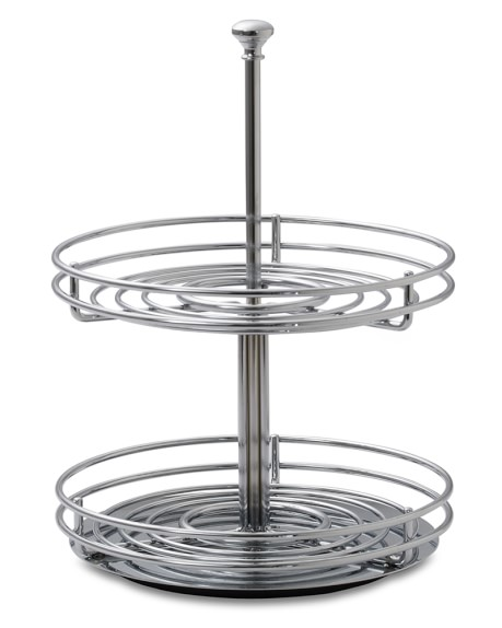 Two-Tier Revolving Spice Rack