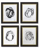 Abstract Brushstrokes, Set of 4