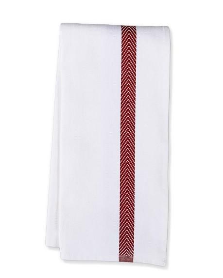 Williams Sonoma Jacquard Chevron Towels, Set of 2, Red