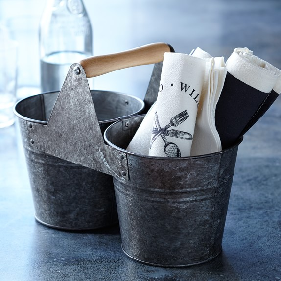 Williams-Sonoma Open Kitchen Galvanized Bucket