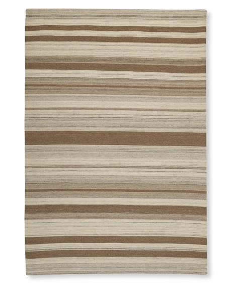 Saddle Blanket Dhurrie Rug, Multi Stripe, 6' X 9', Desert