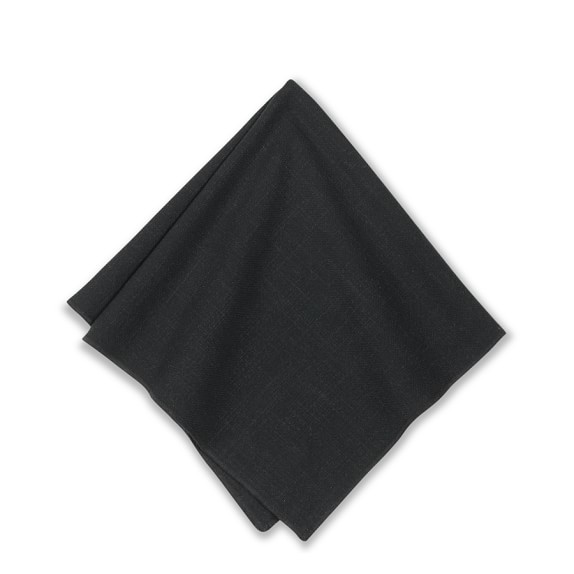 Tonal Merrow Edge Napkin, Black