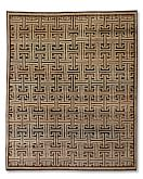 Bold Lattice Hand-Knotted Rug, 6' X 9', Chocolate