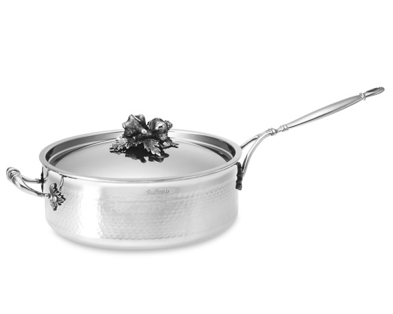 Ruffoni Opus Prima Hammered Stainless-Steel Sauté Pan