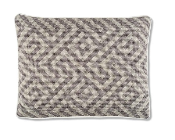 Labyrinth Geo Needle Point Pillow Cover, 12