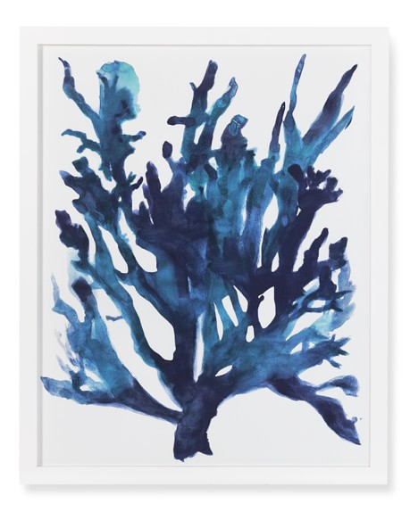 Oversized Indigo Coral Print, B