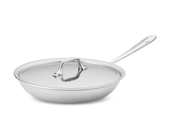 All-Clad Tri-Ply Stainless-Steel Traditional Covered Fry Pan, 10