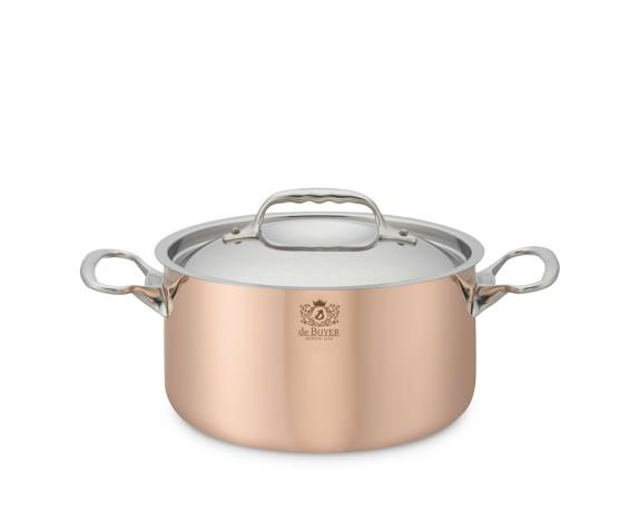 de Buyer Prima Matera Copper Soup Pot, 3 1/2-Qt.