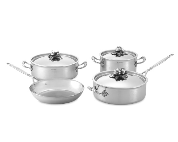 Ruffoni Opus Prima Hammered Stainless-Steel 7-Piece Cookware Set
