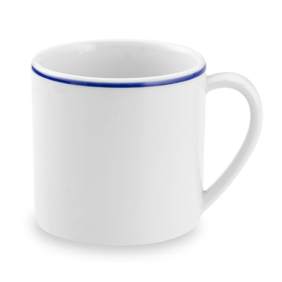 Apilco Tradition Blue-Banded Mugs, Set of 4