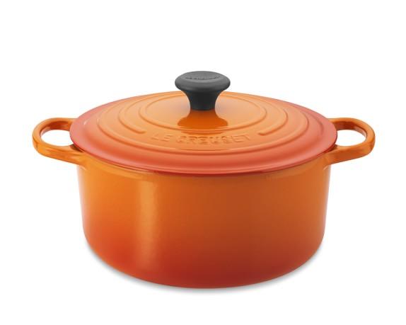 Le Creuset Signature Cast-Iron Round Dutch Oven, 5 1/2-Qt., Flame
