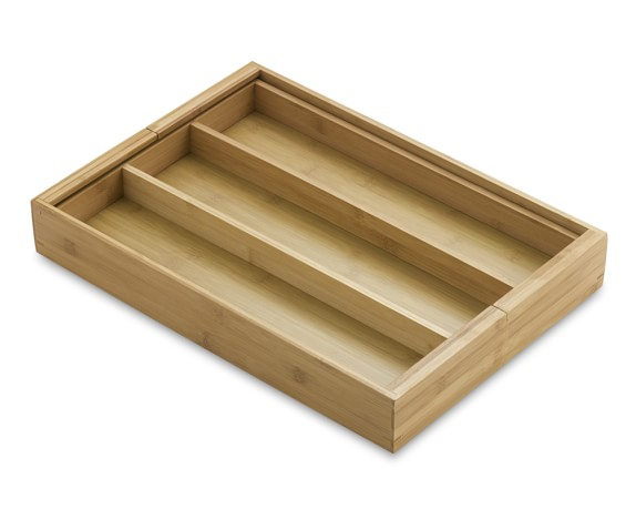 Bamboo Expandable Utensil Tray