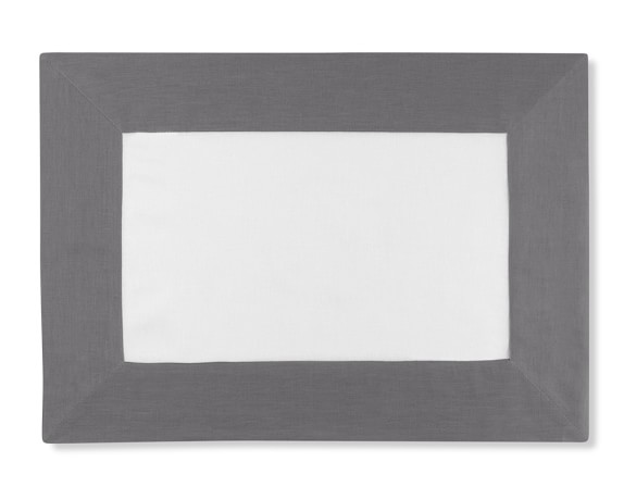 Wide Border Place Mat, Charcoal