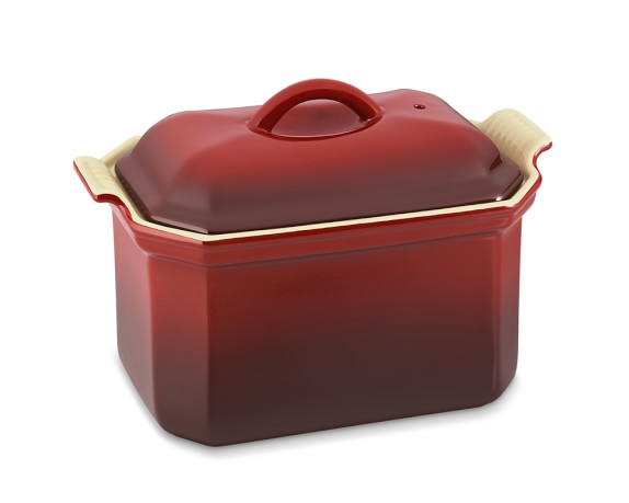 Le Creuset Heritage Stoneware Pâté Terrine with Press, Red