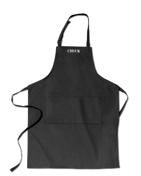 Personalized Adult Apron, Black