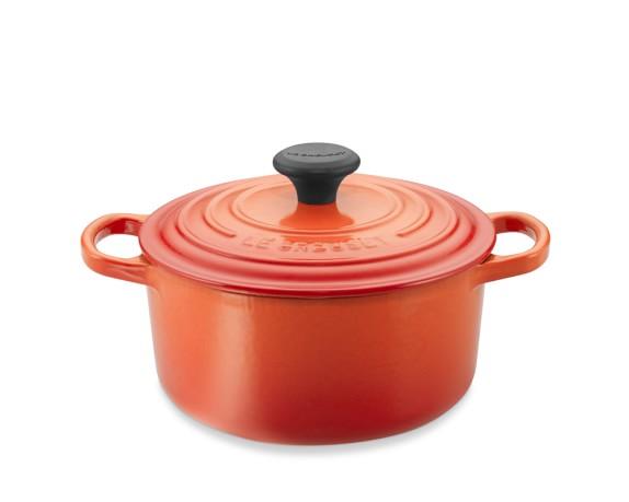 Le Creuset Signature Cast-Iron 2-Qt. Round Dutch Oven, Flame